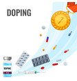 doping drugs anti-agitative poster with pills and vector image vector image