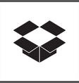 dropbox icon or logo vector image