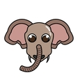 elephant animal character isolated icon vector image