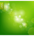 Green Eco Background With Blur vector image vector image