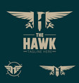 h logo letter based hawk bird theme vector image vector image