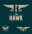 h logo letter based hawk bird theme