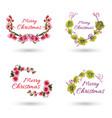 hand drawn watercolor christmas logo designs vector image