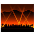 hollywood california sunset city background vector image vector image