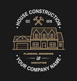 house construction company identity with suburban vector image vector image