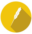 icon pen with a long shadow vector image vector image