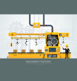 industrial machine factory construction equipment vector image vector image