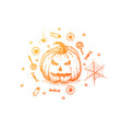 jack o lantern colorful sketch vector image