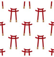 japanese gate seamless pattern vector image