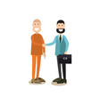 law court people in flat style vector image vector image