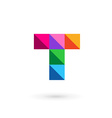Letter T mosaic logo icon design template elements vector image vector image
