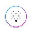 light bulb with rays shine icon isolated vector image