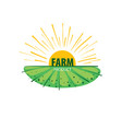 logo with the image of the field for farms vector image vector image