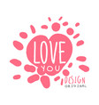 love you logo template original design colorful vector image