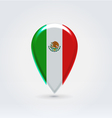 Mexican icon point for map vector image vector image
