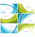 modern elegant business cards vector image vector image