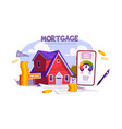 mortgage loan for home purchase vector image