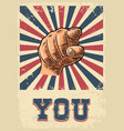 motivational poster hand pointing at you finger vector image vector image
