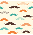 Mustache seamless background vector image vector image