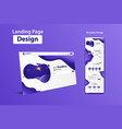 new trendy landing page website template design vector image vector image