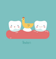 newborn tooth concept of dental vector image vector image