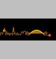 newcastle light streak skyline vector image vector image