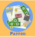 payroll invoice sheet flat payroll vector image vector image