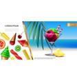 realistic ice cream concept vector image vector image