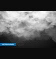 realistic transparent clouds sky panorama vector image