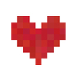 Red pixel heart vector image