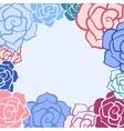 Rose flower invitation card vector image vector image