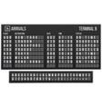 scoreboard flip font arrival airport signs board vector image vector image