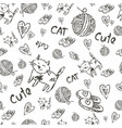 seamless background cat vector image