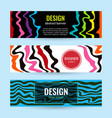 set horizontal color banners with bright waves on vector image vector image