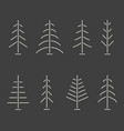 set of abstract minimalistic christmas trees vector image vector image