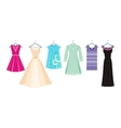 Set of summer and autumn dresses for office vector image vector image