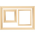 set of wooden frame vector image vector image