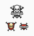 skull badge concept design template vector image