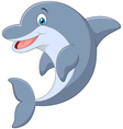Standing Dolphin vector image vector image