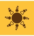 The weather icon Sunrise and sunshine weather vector image vector image