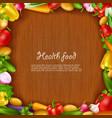 Vegetable Health Food Background vector image