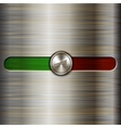 volume control on the brushed steel background vector image