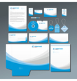 Blue stationery set