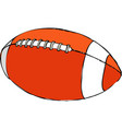 rugby ball isolated icon athletic equipment vector image