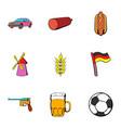 bavaria icons set cartoon style vector image