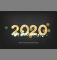 2020 new year golden banner vector image vector image