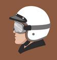a man in moto helmet vector image vector image