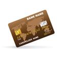a plastic credit card vector image