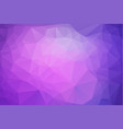 abstract pink purple polygonal which consist of vector image vector image
