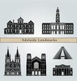 adelaide v2 landmarks vector image